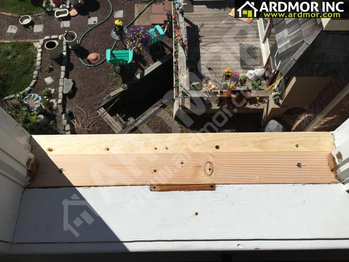 Rotten Andersen Window Sill Bucks County Pa Ardmor Inc