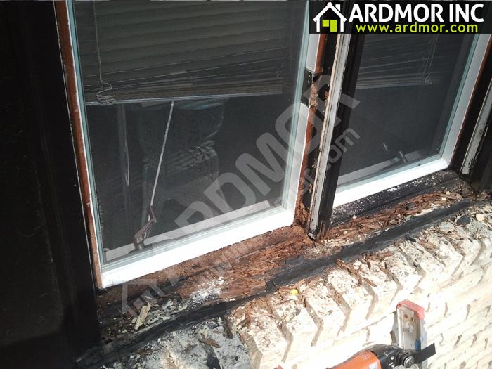 Double_Casement_Window_Sill_Repair_Philadelphia_PA_before